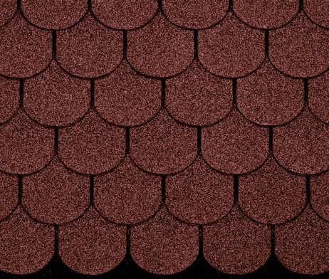 Ασφαλτικό κεραμίδι στρογγυλο -χρώμα κεραμιδι