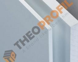 Συμπαγές pvc διπλής εξέλασης λευκού χρώματος - KomPrint