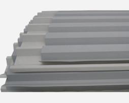 Λαμαρίνα τραπεζοειδής 8 κορυφών RAL9002